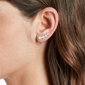 Moonstone Ear Crawler Earrings